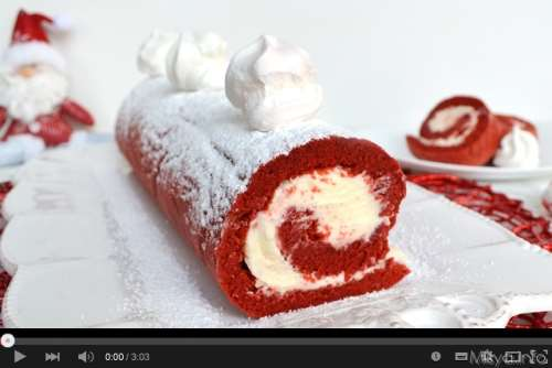 Video ricetta rotolo red velvet