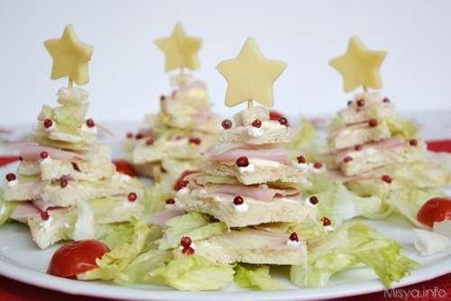 Ricette Antipasti Alberi di Natale di pancarrè