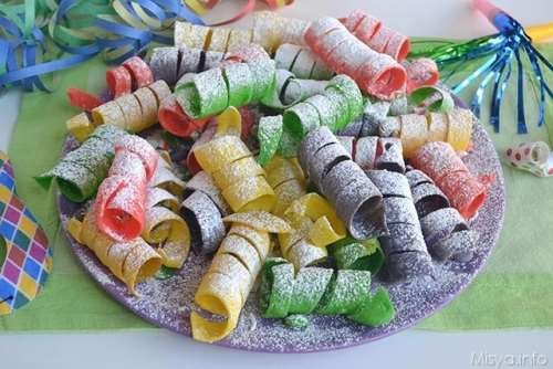 Dolci di Carnevale ricette Stelle filanti dolci