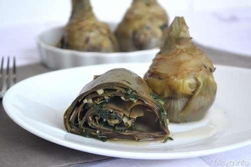 Vegetariane ricette Carciofi alla romana