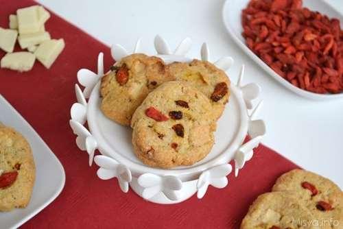 Ricette Biscotti veloci Biscotti con bacche di goji