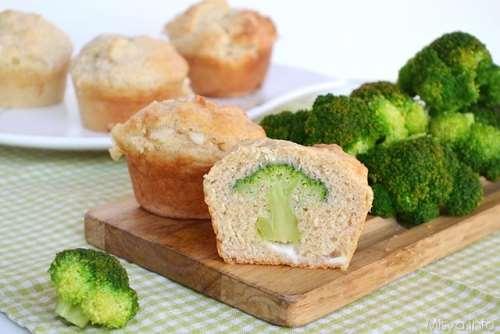 ricette Muffin con cuore di broccolo