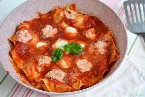 Piatti unici ricette Lasagne in padella