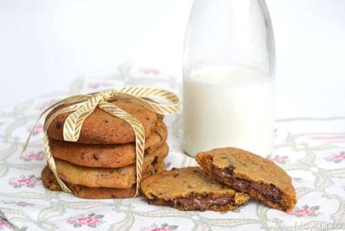 Biscotti ricette Nutella cookies