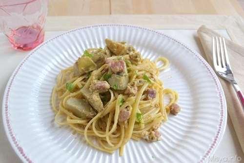 di Pasqua ricette Carbonara di carciofi