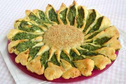 Rustici ricette Torta fiore ricotta e spinaci