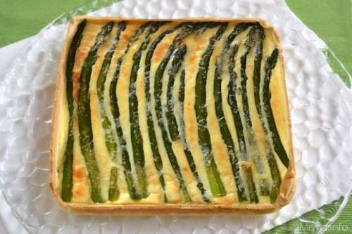 ricette Torta salata agli asparagi