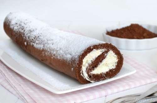 Ricette Dolci Rotolo al cioccolato bianco