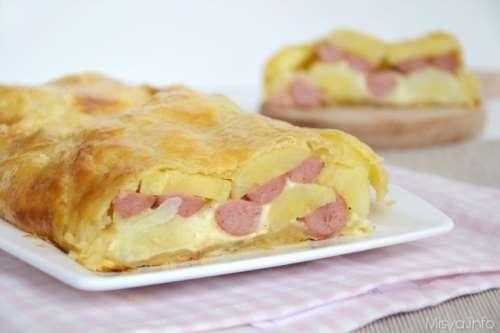ricette Rustico patate wurstel e mozzarella
