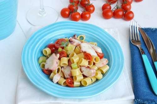 Pesce ricette Insalata di pasta con polpo