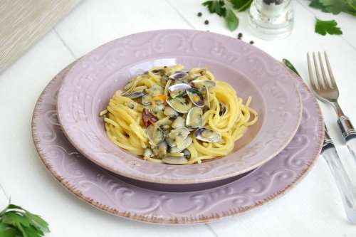Ricette  Spaghetti con le telline