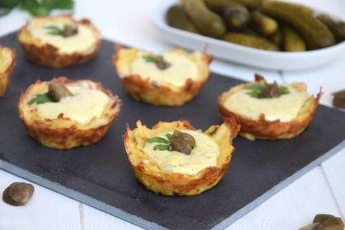 Ricette Antipasti sfiziosi Cestini di patate