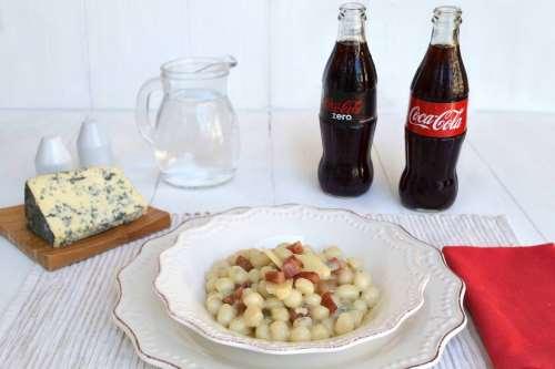 ricette Gnocchetti al gorgonzola e guanciale