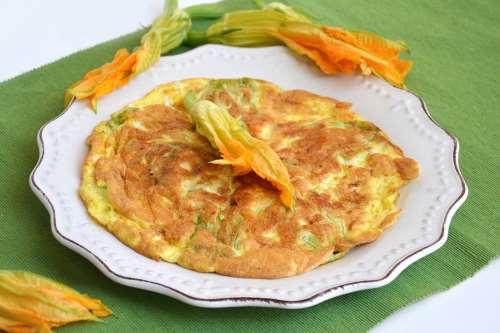 Vegetariane ricette Frittata di fiori di zucca