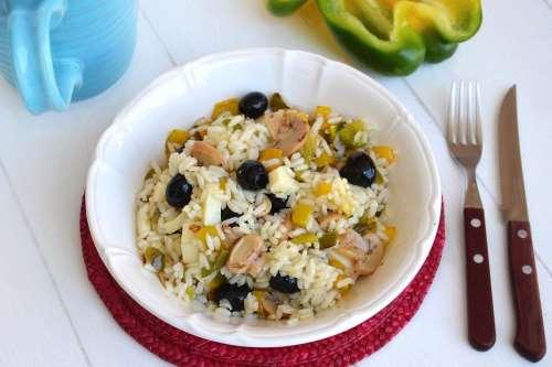 Ricette Insalate di riso Riso freddo ai peperoni