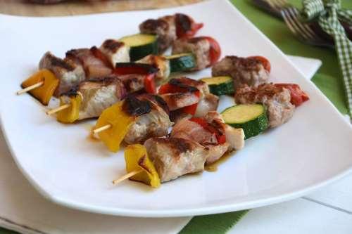 ricette Spiedini di carne e verdure