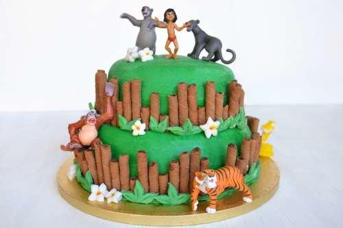 Decorazioni torte ricette Torta libro della giungla