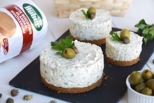 Cheesecake salato alle olive