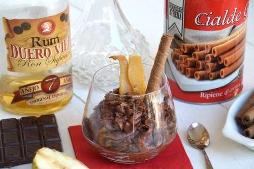Ricette Creme Mousse al cioccolato e rum