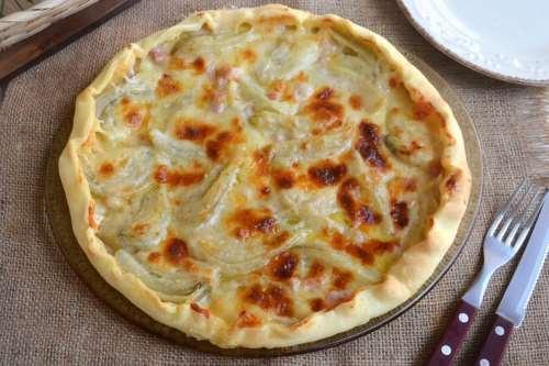 Ricette  Torta salata con finocchi e prosciutto