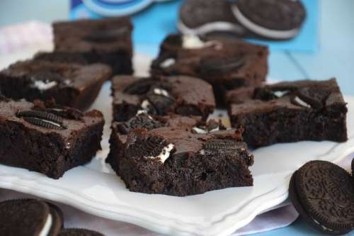 Dolci ricette Brownies Oreo