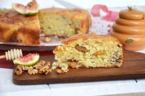 ricette Torta di fichi e noci
