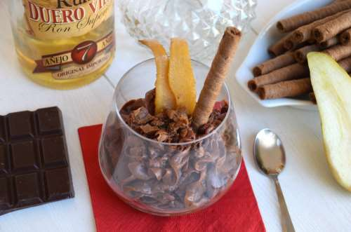 Dolci al cucchiaio ricette Mousse al cioccolato e rum