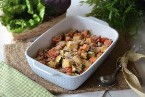 Tofu con verdure al forno