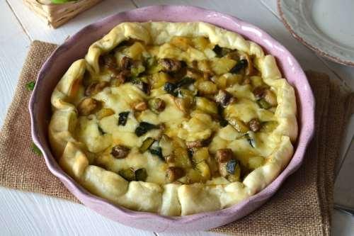 ricette Torta salata con verdure e formaggi