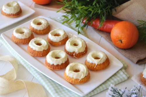 Ricette  Ciambelline di carote e arancia