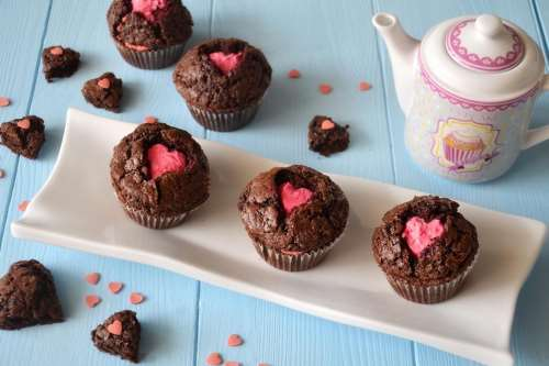 Ricette Muffin Muffin di San Valentino