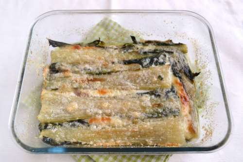 Contorni di verdure ricette Parmigiana di coste di biete