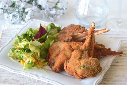 Ricette  Costolette di agnello fritte