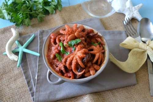 ricette Polipetti in umido con fagioli