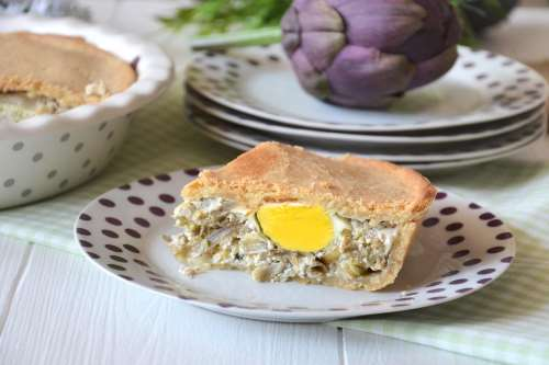 Torte salate ricette Torta Pasqualina ai carciofi