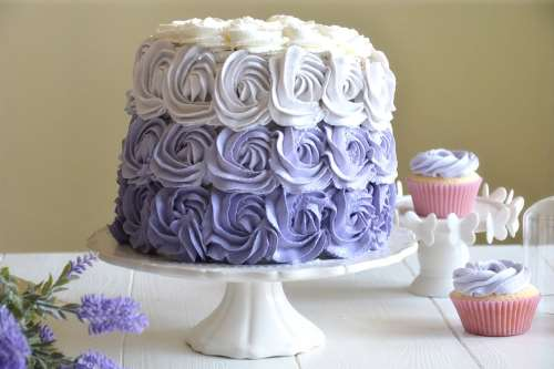 ricette Purple rose cake