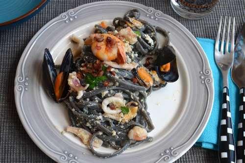 Primi di pesce ricette Carbonara di mare