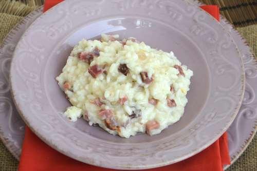 Primi piatti ricette Risotto speck e scamorza