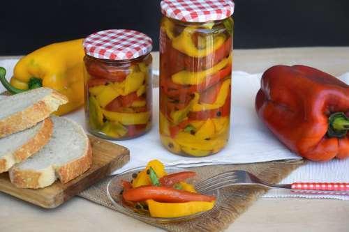 Ricette Contorni di verdure Peperoni sott'olio