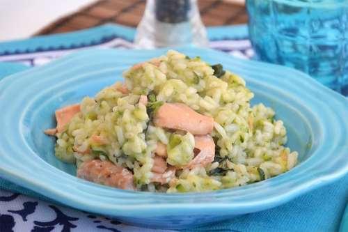 Primi piatti ricette Risotto con zucchine e salmone