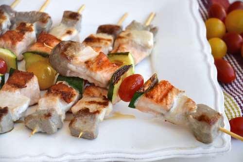 Secondi piatti ricette Spiedini di pesce