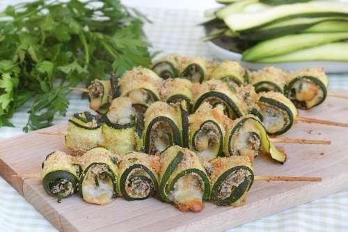 Ricette  Spiedini di zucchine