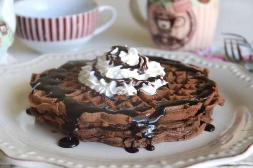 ricette Waffle al cacao
