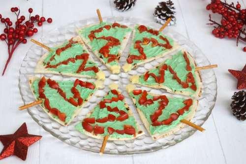 Antipasti di Natale ricette Alberelli di piadine