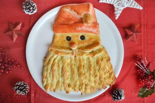 Ricette Pizze e Focacce Babbo Natale di pane