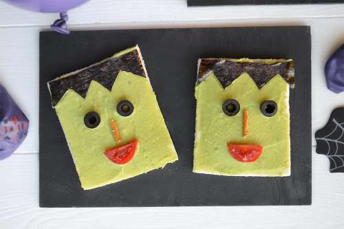 Ricette Finger food Frankenstein Toast