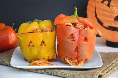 Peperoni ripieni di halloween