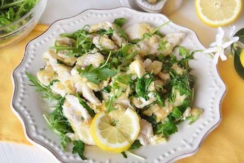 Straccetti di pollo limone e rucola