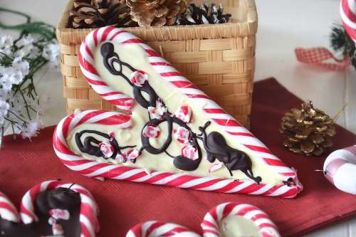 Ricette  Cuori di candy cane al cioccolato
