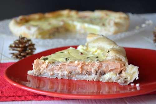 Ricette  Torta salata al salmone